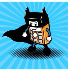 Super-hero smartphone vector image