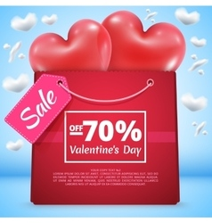Three red balloons sale 70 vector image