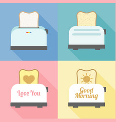 toast bread in various set vector image vector image