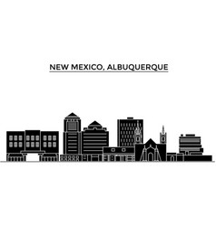 usa new mexico albuquerque architecture vector image