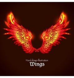 Wings And Flame vector image