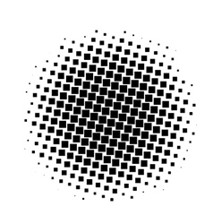 black and white squares halftone pattern vector image