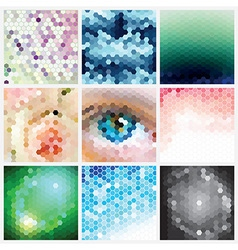 Hexagonal Pattern Set vector image