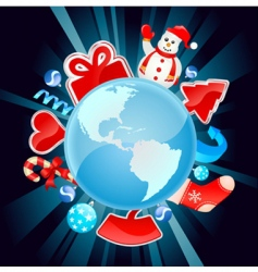 Christmas world vector