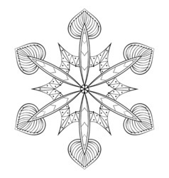 Zentangle elegant snow flake mandala for adult vector