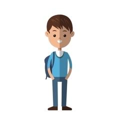 Young boy cartoon icon vector