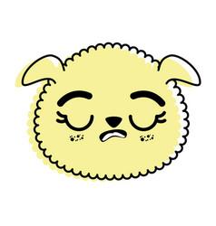 Isolated cute sheep face vector