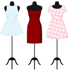 Different dresses on a mannequin vector