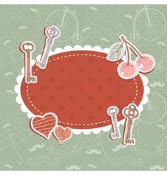 Valentine romantic love card vector image