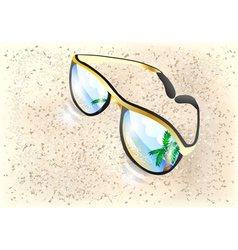 Sunglasses o sand vector