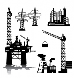 Industrial buildings vector