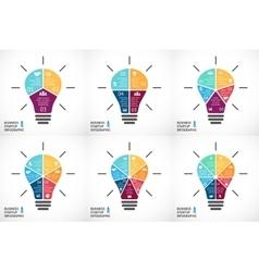 light bulb infographics set Template for vector image