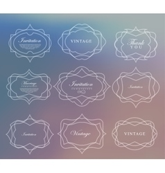 Set retro vintage ribbons and label vector