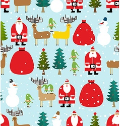 Winter pattern for christmas and new year seamless vector