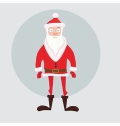 Cute santa in red short down jacket vector