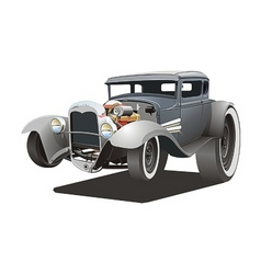 Cartoon ratrod vector