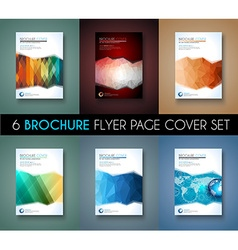 Set of 6 brochure template flyer design and vector
