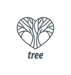 logo tree vector image