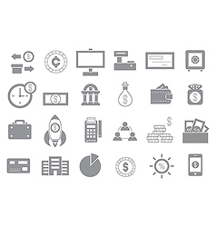 Banking gray icons set vector