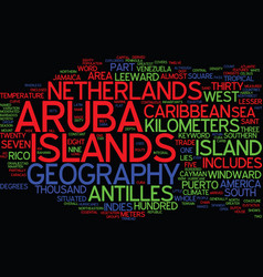 Aruba geography text background word cloud concept vector