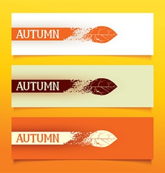 Autumn banners vector