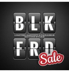 Black friday sale analog flip clock style eps 10 vector