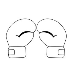 Boxing gloves icon vector