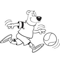 Cartoon Basketball Bear vector image vector image