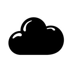 Contour nice cloud weather of sky vector