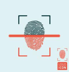 Fingerprint scanning icon vector