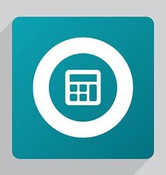 Flat calculator icon vector