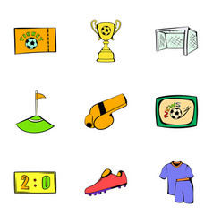 Game icons set cartoon style vector