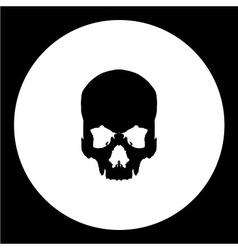 Isolated human skull bones black icon eps10 vector