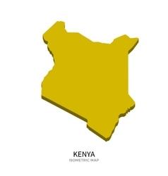 Isometric map of kenya detailed vector