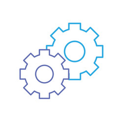 line gear industry technology information icon vector image