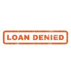 Loan Denied Rubber Stamp vector image vector image