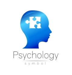 Modern head sign of Psychology Puzzle Profile vector image vector image