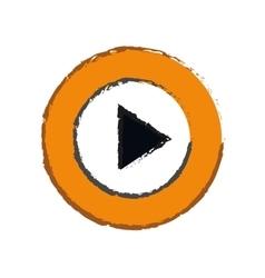 Play button sign vector
