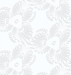Quilling paper flourish tear drops vector
