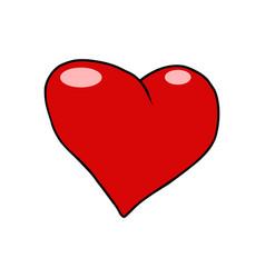red heart valentine love symbol icon vector image vector image