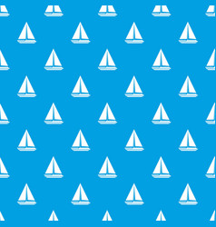sea yacht pattern seamless blue vector image vector image