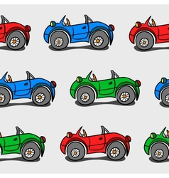 Seamless baby background with cars vector image