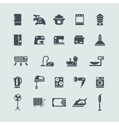 Set of white goods icons vector