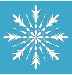 Snowflake Snowflake icon flat style Snowflake vector image vector image