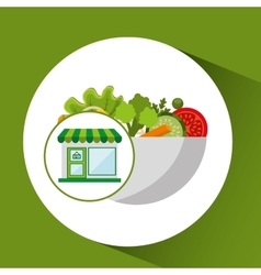 store fresh vegetables organic vector image