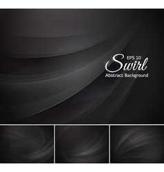 Swirl abstract background - black vector