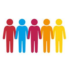 Teamwork pictogram silhouette vector