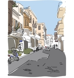 traveling European Greece street sketch vector image vector image
