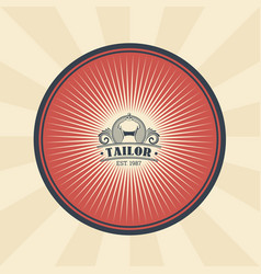Vintage of badge sticker vector