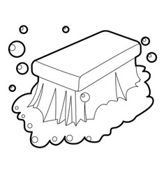 Wet cleaning icon outline vector